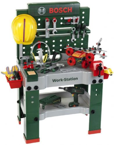 Bosch No.1 Children Kids Work Station Workbench Tool Kit DIY Playset